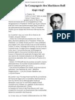 Histoire de La Compagnie Des Machines Bull 1941-1947