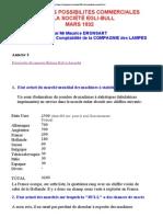 NOTE SUR LES POSSIBILITES COMMERCIALES DE LA SOCIÉTÉ EGLI-BULLMARS 1932 Par Mr Maurice DRONSART