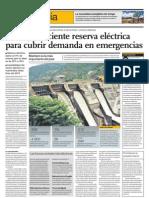 No hay suficiente reserva eléctrica para cubrir demanda en emergencias