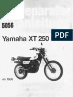 Yamaha XT250 3Y3 Werkstatthandbuch 5056