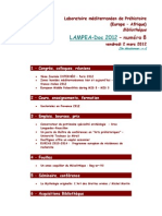 LAMPEA-Doc 2012 - numéro 8 / vendredi 2 mars 2012