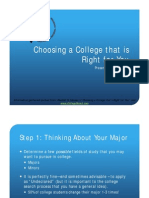 Choosing a College That is Right for You (All Grades)