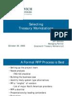 GTA Selecting Treasury Workstations