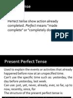 Perfct Tense II