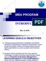 MBA Program Introduction December 2010