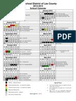 2012-13 Instructional Calendar