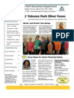 Silver Foxes Newsletter - March 2012 from the Takoma Park Recreation Department