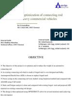 Design Optimization of Conrod by R.aravindhan