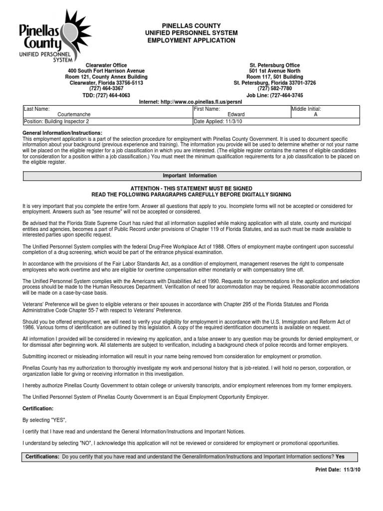 building inspector application driver s license employment