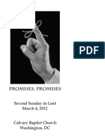 Worship Bulletin, March 4, 2012—Promises, Promises