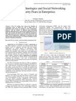 Paper 26 - Web 2.0 Technologies and Social Networking Security Fears in Enterprises