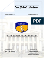 FIVE YEAR PLANS IN INDIA