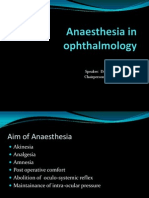 Anaesthesia in Ophthalmology 001