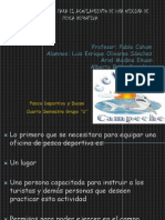 Lista de Materiales Para El acoplamiento de Una unidad pesqera