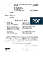 Hearing in Charlotte County Courthouse 4C 03/07/2012 at 9AM