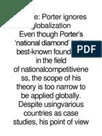 Critique of Porter