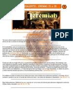 Puntos Sobresalientes - Jeremias 25 a 28