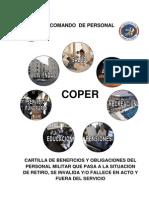 Cartilla de Beneficios y Obligaciones Del Personal Militar