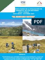 El Mantaro Revive - Avances de resultados de la evaluación de calidad ambiental de los recursos agua y suelo / Data mayo - octubre 2007