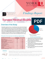 Toronto Mental Health Project Findings Report 2011 Summer