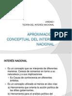 Interes nacional, aproximación conceptual