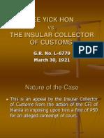 Lee Yick Hon.customs