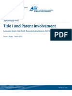 Title I and Parent Involvement