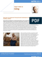 Occupational Therapy's Role in Skilled Nursing  Facilities