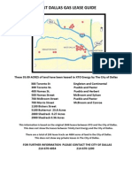 West Dallas Gas Lease Guide Map