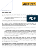 Ceasefire Pa Letter to Patrick Murphy
