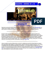 Puntos Sobresalientes - Jeremias 39 a 43