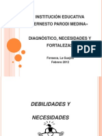 DIAGNÓSTICO INSTITUCIÓN EDUCATIVA «ERNESTO PARODI MEDINA>