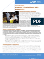 The Role of Occupational Therapy in   Facilitating Employment of Individuals With Developmental Disabilities