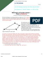 4 Bar Linkage Geometry