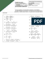 Ejercicios Refuerzo Operaciones de Fracciones Algebraicas.
