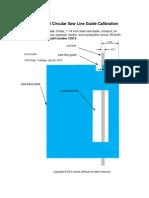 Skil Circular Saw Line Guide Calibration