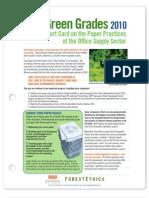 ForestEthics Green Grades 2010
