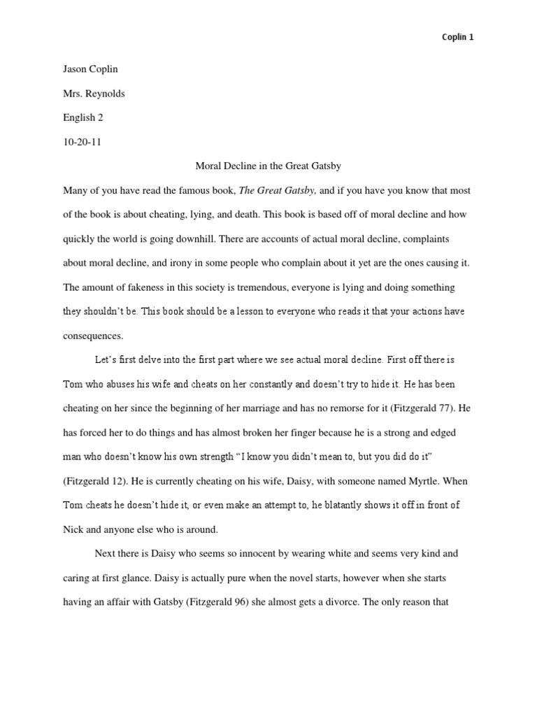 the moral decline essay Analysis of macbeth soliloquies  analysis of macbeth soliloquies this essay is going to depict the moral decline of macbeth.