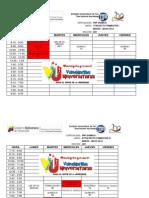 Horarios (Pnf Lic Quimica) Marzo-mayo 2012