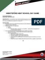 120229 - Media Advisory - School Day Game