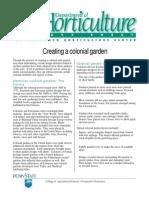 Creating a Colonial Garden