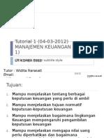Tutorial 1 Manajemen Keuangan (04-03-2012)