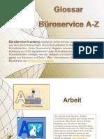 Glossar Büroservice A-Z
