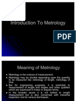 Introduction to Metrology