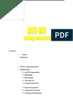 Anti HIV Using Nanotech