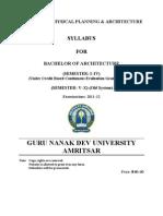 b. Architecture Semester System Cbcegs