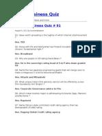India Business Quiz