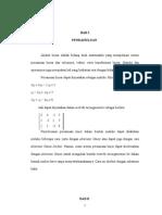 Aljabar Linear Dan Matriks