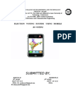 Election Voting System Using Mobile