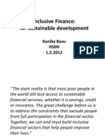 Inclusive Finance_Sustainable Development